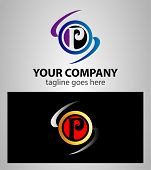 foto of letter p  - Letter P logo icon template elements vector - JPG