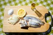 picture of food chain  - Fillet herring with lemon - JPG