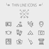 foto of fish icon  - Travel thin line icon set for web and mobile - JPG
