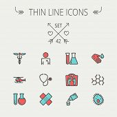 pic of bandage  - Medicine thin line icon set for web and mobile - JPG
