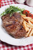stock photo of rib eye steak  - Beef rib - JPG