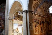 stock photo of church interior  - Interior of Santa Maria Novella - JPG