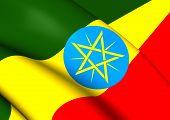 stock photo of ethiopia  - 3D Flag of the Ethiopia - JPG