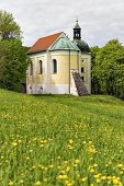 picture of chapels  - Chapel on the Frauenberg near Weltenburg in spring - JPG