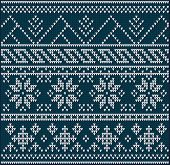 stock photo of knitting  - Winter sweater design on the wool knitted texture - JPG