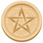 stock photo of pentagram  - Pentacle  - JPG