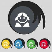 foto of female toilet  - Female Woman human Women toilet User Login icon sign - JPG