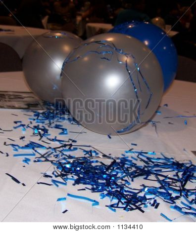 These are party decorations ata senators retirement party. ** Note