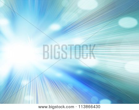 Beautiful Abstract Fantasy Blue Background