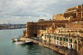 stock photo of olden days  - View of Valletta and Grand Harbour - JPG