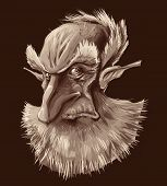 Retrato antiguo elf.
