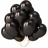 Negro de globos de helio (alta resolución)
