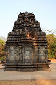 picture of mahadev  - Front view of Mahadev Temple in Goa India - JPG