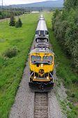 Alaska Railroad Train roles into Fairbanks