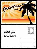 Postcard, Tropical Landscape