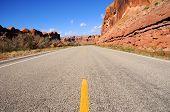 Desert Canyon Highway along Colorado River, in Utah