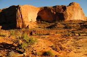 Sandstone Cliffs at Sunset near Moab