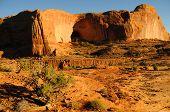 Sandstone Cliffs at Sunset near Moab