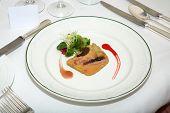 Foie Gras On Restaurant Plate