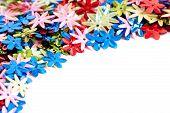 Flower Confetti Background