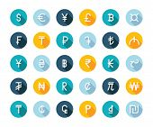 Постер, плакат: Vector Set Currency Symbols