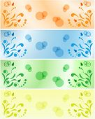 drawng floral background elements on color background
