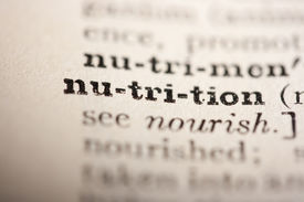 picture of pronunciation  - Word nutrition from the old dictionary a close up - JPG