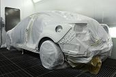 Car In The Spray Booth