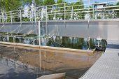 Sedimentatie Tank In een rioolwaterzuiveringsinstallatie.