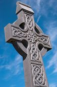 A Celtic Cross Gravestone