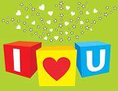 I Love U Sparkling Cubes