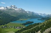 foto of engadine  - panoramic view of the valley of engadine - JPG
