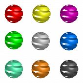 Vector of Coloured Spheres