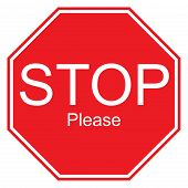 Stop Please Sign