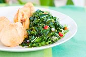 Callaloo Vegetable (Spinach) And Friend Dumplings - Caribbean Style
