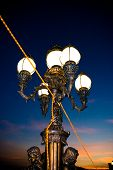 City Lamp On Nightfall