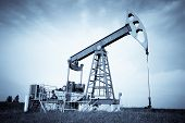 picture of nonrenewable  - An oil pump jack - JPG