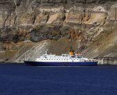 Cruise Ship - Santorini, Greece