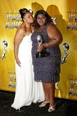 LOS ANGELES - FEB 26: Mo'nique and Gabourey Sidibe  in the press room at the 41st NAACP Image Awards - held at the Shrine Auditorium in Los Angeles, California on February 26, 2010