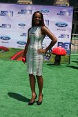 LOS ANGELES - JUNE 26:  Tika Sumpter arriving at the 11th Annual BET Awards at Shrine Auditorium on