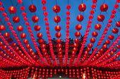 Lanterns. Oriental lanterns display at temple.