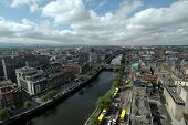 Dublin City Ireland Aerial View