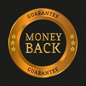 Money Back Guarantee Label poster