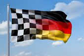 An image of a Formula1 flag in Germany