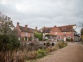 Flatford Mill Building Old Historical Red Brick Constable Country Country Mill House Estate poster