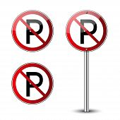 No Parking Signs poster