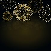 Firework Sparkle Background Card poster