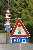 Traffic lights roadsign