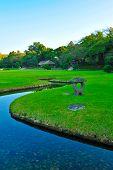 View In Koishikava Korakuen Garden In Okayama Japan