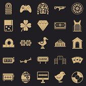 Mood Icons Set. Simple Set Of 25 Mood Icons For Web For Any Design poster